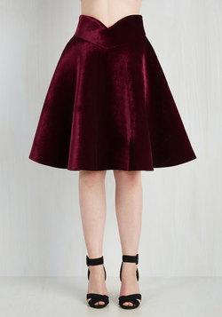 Viva La Velvet Skirt in Merlot