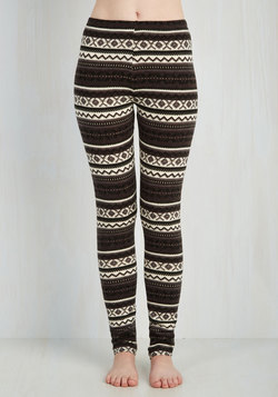 Are We Cabin Fun Yet? Leggings in Winter