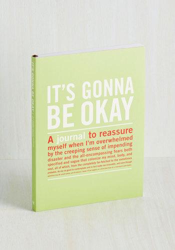 It's Gonna Be Okay Journal - Green, Handmade & DIY, Graduation, Good, Under $20