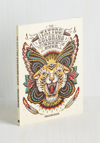 The Tattoo Coloring Book by Chronicle Books - Rockabilly, Good, Novelty Print, Handmade & DIY, Under $20