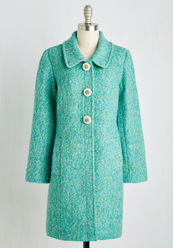 Snowfall in Love Coat in Aqua