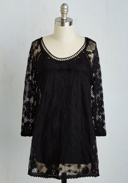 Cottage Couture Tunic in Black