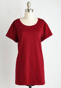 Simplicity on a Saturday Tunic in Wine