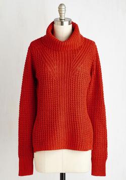 Engineer to My Heart Sweater in Pumpkin