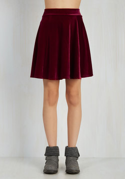 Eternal Echo Skirt in Garnet