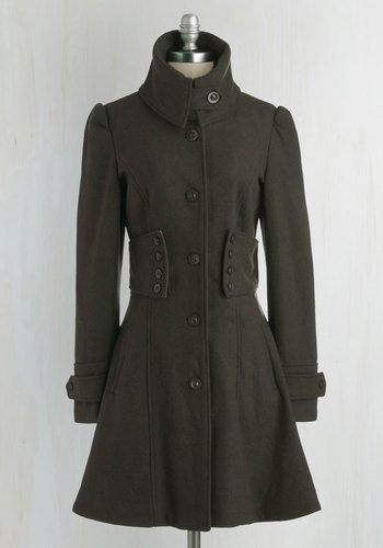 The Importance of Being Forest Coat - Green, Solid, Buttons, Long Sleeve, Pockets, Winter, Military, French / Victorian, Green, Long, Fall, 4
