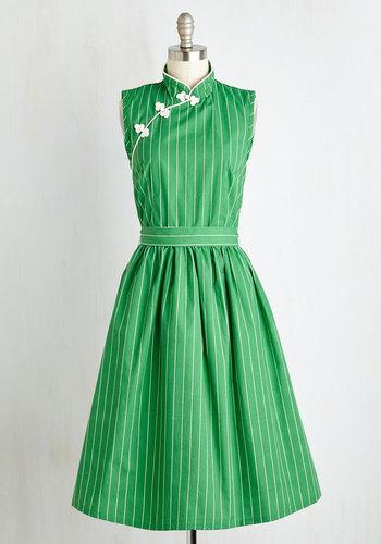 Biographical Book Club Dress in Shamrock $139.99 AT vintagedancer.com