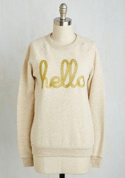 Howdy Do Sweatshirt in Oat
