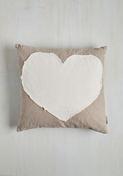 Darling Devotion Pillow in Heart