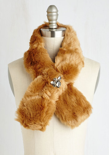 Wrapped in Winsome Stole in Brown $49.99 AT vintagedancer.com