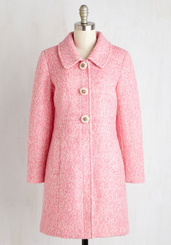 Snowfall in Love Coat in Carnation