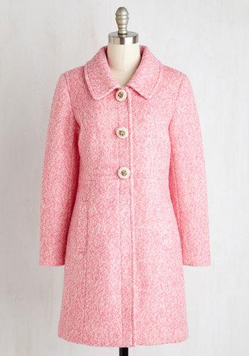 Snowfall in Love Coat in Carnation $199.99 AT vintagedancer.com