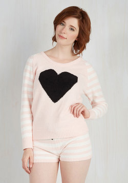 Love Above All Sleep Top in Blush Stripes