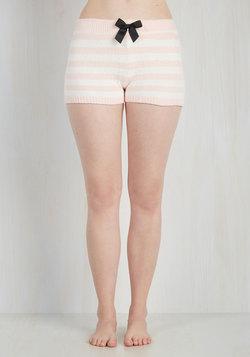 Love Above All Sleep Shorts in Blush