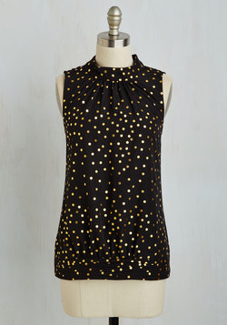 Midtown Magnificence Top in Dotted Black