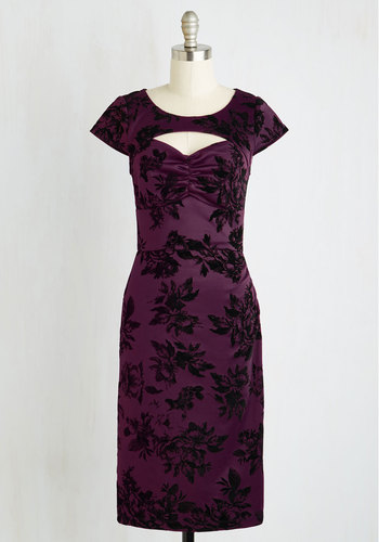 Dear Fiery Dress in Amethyst Floral $99.99 AT vintagedancer.com