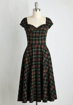 Pine All Mine Dress in Earthy Plaid