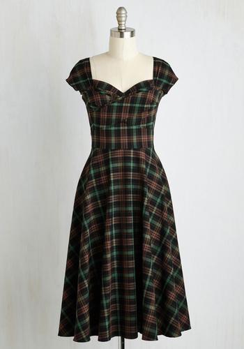 Pine All Mine Dress in Earthy Plaid $179.99 AT vintagedancer.com