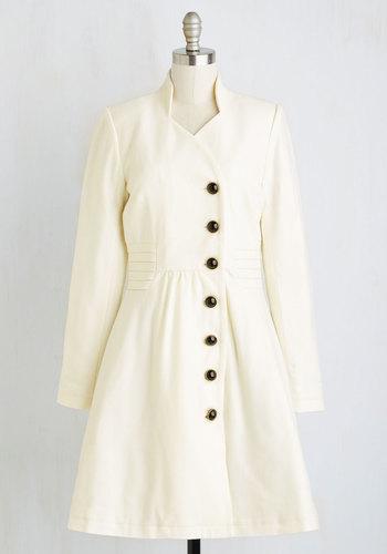 Outdoor Orchestra Coat in Ivory $159.99 AT vintagedancer.com