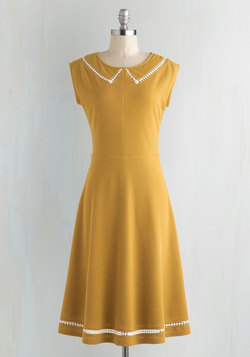 Author Outings Dress in Goldenrod