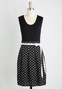 Scenic Road Trip Dress in Black Dots