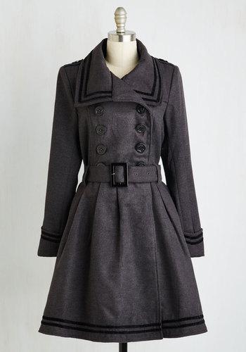 A Welcomed Moment Coat in Charcoal $169.99 AT vintagedancer.com