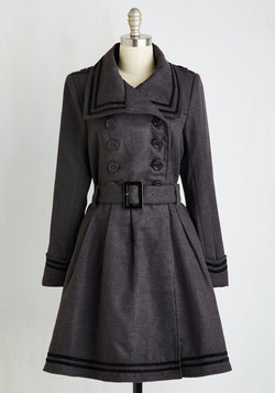 A Welcomed Moment Coat in Charcoal