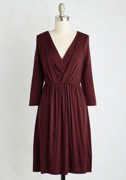 After the Party Dress in Maroon