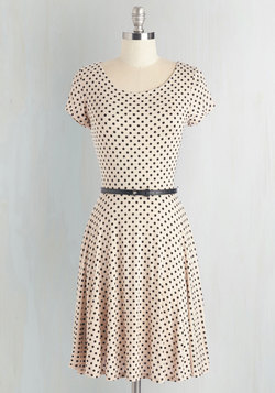 The Dot That Flounce Dress