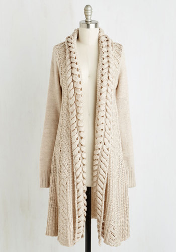 Espresso Bean Dream Cardigan - Knit, Cream, Solid, Long Sleeve, Better, Knitted, White, Long Sleeve, Tis the Season Sale