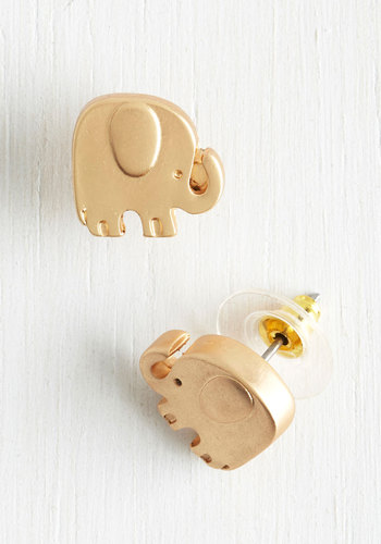 Pack Your Trunks Earrings - Gold, Solid, Casual, Quirky, Gold, Print with Animals, Best Seller, Critters, Fall, As You Wish Sale, Top Rated, Gifts2015