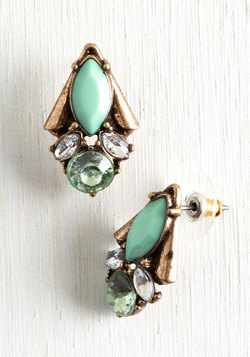 Enamored by Glamour Earrings in Spearmint