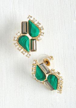 Wishful Twinkling Earrings in Green