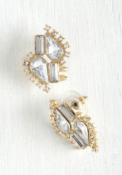 Wishful Twinkling Earrings in Rhinestone