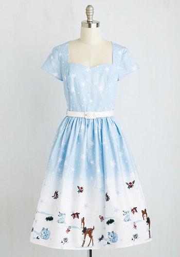 Waltzing in a Winter Wonderland Dress $89.99 AT vintagedancer.com