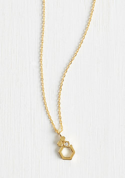 Come and Hexagon Necklace