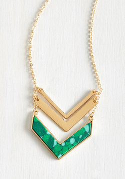 Terrace at my Heartstrings Necklace in Green