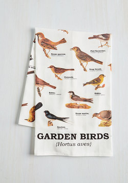 Bird Swatching Tea Towel