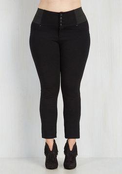 Carefree Crescendo Pants in Black - 1X-3X