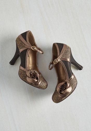 Convivial Companion Heel in Bronze $69.99 AT vintagedancer.com