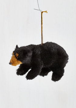 Forest to Arrive Ornament in Bear