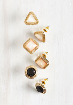 Well-Adorned Perspective Earring Set