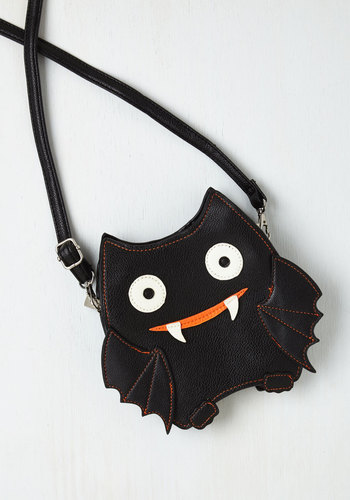 Baby Got Bat Bag - Black, Orange, White, Kawaii, Party, Quirky, Fall, Girls Night Out, Halloween