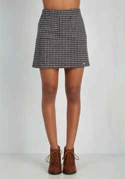 Bring Me Up to Tweed Skirt in Navy