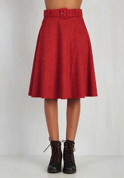 Flirty Foundation Skirt in Red