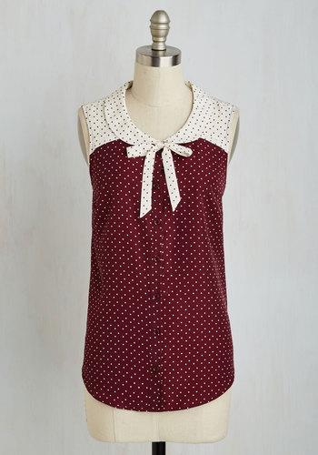 Fashionably Elate Top in Burgundy $44.99 AT vintagedancer.com