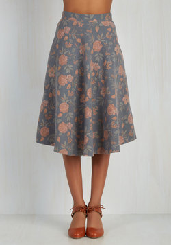 Simple Math Skirt in Grey Floral