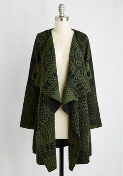 A Head of the Game Cardigan in Olive