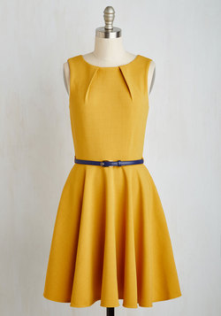 Luck Be a Lady Dress in Goldenrod