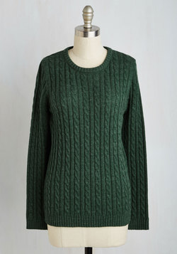 Chalet It on the Line Sweater in Pine